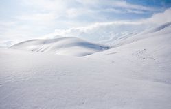 Alps in snow Royalty Free Stock Photo
