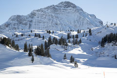 Alps in the snow, Austrian Stock Images