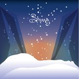 Snow and alps design. Alps with snow icon colorful design vector illustration Royalty Free Stock Photos