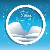 Snow and alps design. Alps with snow icon colorful design vector illustration Royalty Free Stock Photo