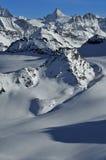 alps som skidar schweizisk vildmark Arkivfoto