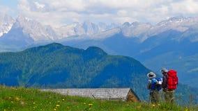 alps som trekking Arkivbild