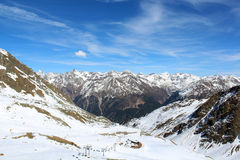 Alps. Somewhere in Alps, a paradise for skiers Royalty Free Stock Photo