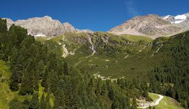 Alps in Stubai's Valley 2 Royalty Free Stock Photo
