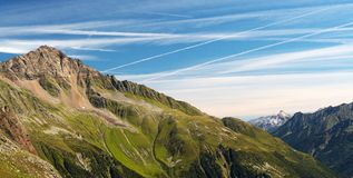 Alps in Stubai's Valley Royalty Free Stock Images