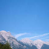 Alps in the summer. View to the Alps mountains Stock Photos