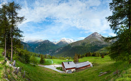 Alps summer country panorama (Austria). Stock Image