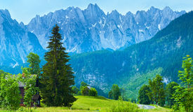 Alps summer country panorama (Austria). Stock Photography
