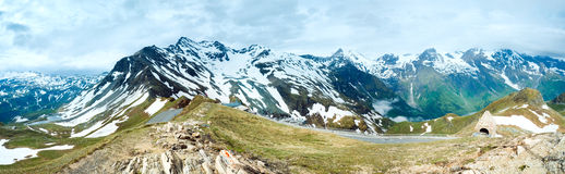 Alps summer panorama. Royalty Free Stock Photos