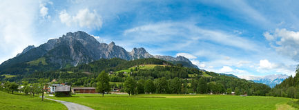Alps summer panorama (Austria). Stock Photo