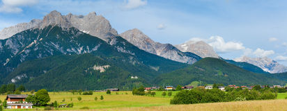 Alps summer panorama (Austria). Royalty Free Stock Photos