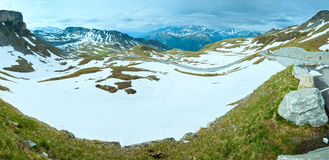 Alps summer panorama Royalty Free Stock Images