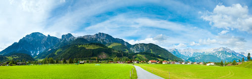 Alps summer view Royalty Free Stock Photo