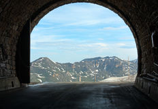 Alps summer view from Hochtor tunnel Stock Image