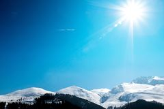 Alps sunlight Stock Photography