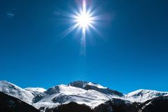 Alps sunlight Stock Image