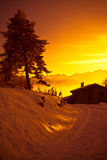 Alps at sunset - Poira(Valtellina) - Italy Royalty Free Stock Photos