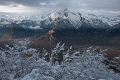The Alps at sunset Stock Photo