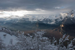 The Alps at sunset Stock Photography
