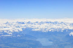 Alps. Surrounding by the cloud Royalty Free Stock Photography