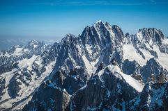 The Alps surrounding Mont Blanc in Europe stock images