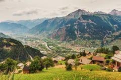 Alps, Switzerland. Alps, Rhone river, Canton of Valais, Switzerland royalty free stock image