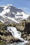 Alps in Switzerland with Glacier lake near Susten Stock Image