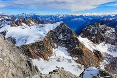 Alps in Switzerland in wintertime Stock Photo