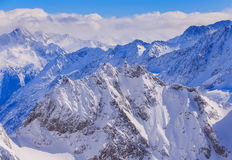 Alps in Switzerland in wintertime Royalty Free Stock Images