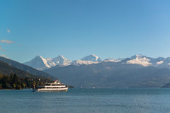 Alps and Thun lake near Spiez Stock Photography