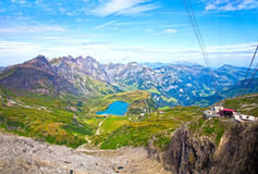 The Alps from the Titlis Peak Stock Photo