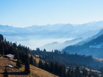 Alps from the top of Rigi kulm, Switzerland Royalty Free Stock Images