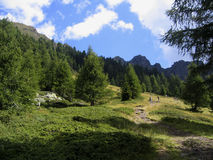 alps trekking Стоковые Изображения