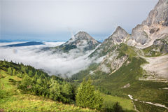 Alps under the south face of Dachstein massif Royalty Free Stock Images