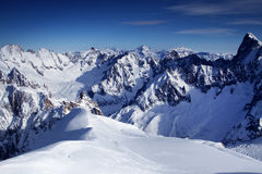 Alps view. From the top near Montblanc in France stock photography