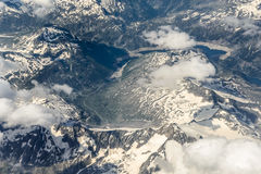 Alps view from above Stock Photography