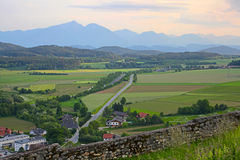 Alps view  in Austria Royalty Free Stock Photo