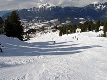 Alps view. View of Alps (Dolomites) and ski slope Stock Photo
