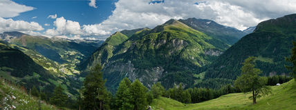 Alps view from Grossglockner High Alpine Road Royalty Free Stock Photo