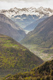 Alps view - Rhone valley in Switzerland. Royalty Free Stock Image