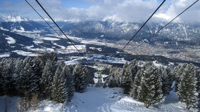 The Alps. View of the Alps from top of the mountain in Innsbruck, Austria Stock Photos