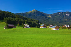 Alps village Royalty Free Stock Image