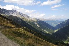 Alps in the Vinschgau. Mountains in the region of mount Ortler in Sulden (South Tyrol, Italy Stock Photo