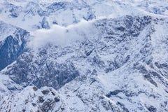 Alps w austriaku, widok z lotu ptaka obraz royalty free