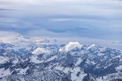 Alps w austriaku, widok z lotu ptaka zdjęcie royalty free