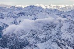 Alps w austriaku, widok z lotu ptaka Zdjęcia Royalty Free