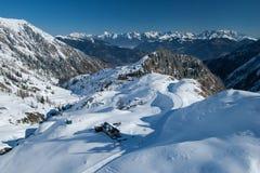 Alps w zima zdjęcie stock