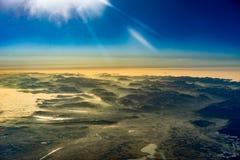 Alps w zimie podczas wschodu słońca od powietrza Fotografia Royalty Free