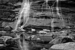 Alps waterfall 2 Black White Royalty Free Stock Photo