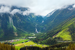 Alps waterfall summer view Royalty Free Stock Image